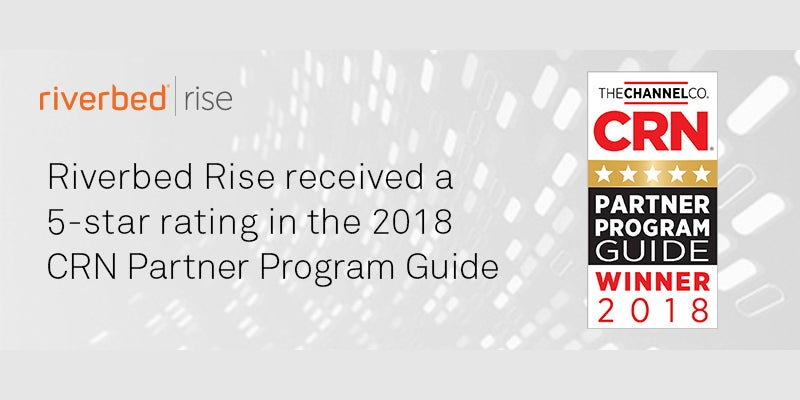 Riverbed rise recognized as a 5-star partner program.