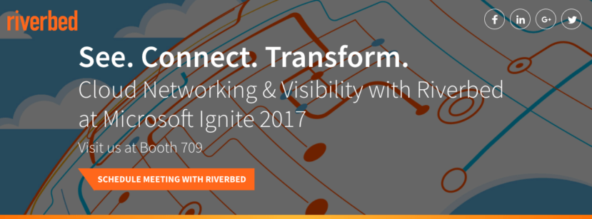 Riverbed at Microsoift Ignite 2017