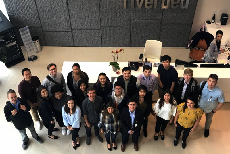 Riverbed Interns on their First Day - STEM