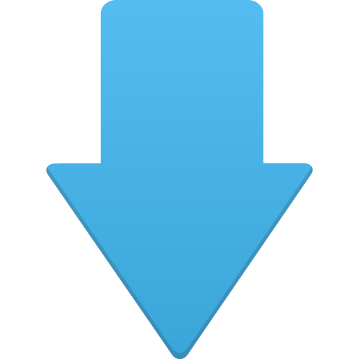blue down arrow