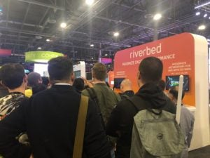 Daily giveaway at Riverbed booth at AWS re:Invent