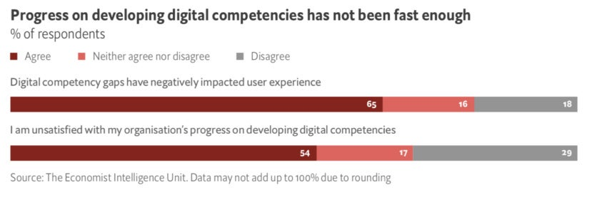 Progress on developing digital competencies has not been fast enough