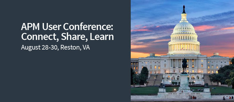 APM User Conference: Free Training and Much More in Reston, VA